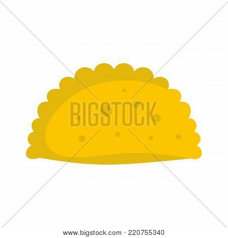 Pattie icon. Flat illustration of pattie vector icon isolated on white background