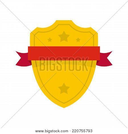 Badge warrior icon. Flat illustration of badge warrior vector icon isolated on white background