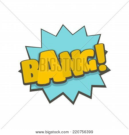 Comic boom bang icon. Flat illustration of comic boom bang vector icon isolated on white background