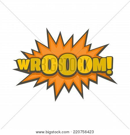 Comic boom sticker icon. Flat illustration of comic boom sticker vector icon isolated on white background