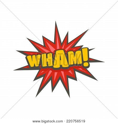 Comic boom wham icon. Flat illustration of comic boom wham vector icon isolated on white background