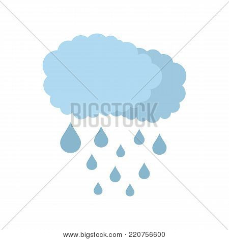 Cloud rain icon. Flat illustration of cloud rain vector icon isolated on white background