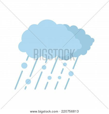 Cloud rain snow icon. Flat illustration of cloud rain snow vector icon isolated on white background