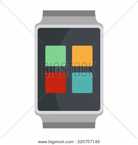 Smart watches icon. Flat illustration of smart watches vector icon isolated on white background