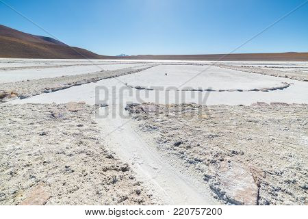Salt Lake On The Andes, Road Trip To The Famous Uyuni Salt Flat, Among The Most Important Travel Des
