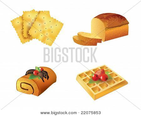 Set Of Pastry Objects
