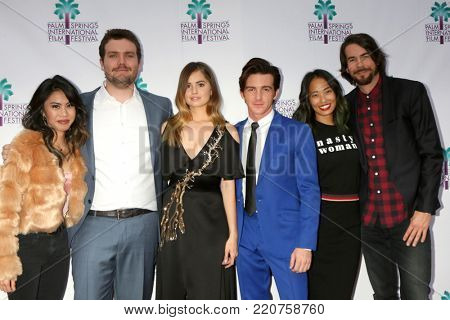 PALM SPRINGS - JAN 3:  Ashley Argota, Austin Swift, Debby Ryan, Drake Bell, Jenn An, Jonny Mars at the PSIFF