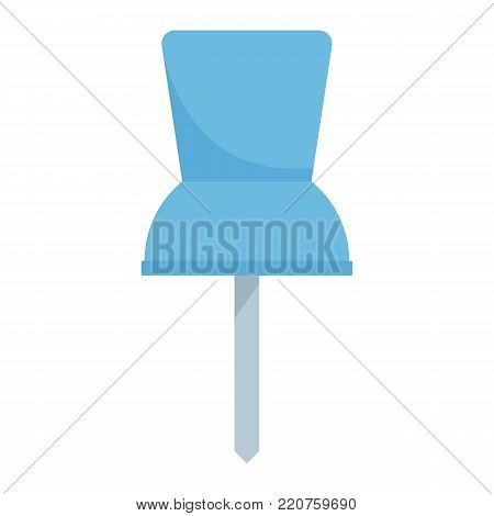 Pin icon. Flat illustration of pin vector icon isolated on white background