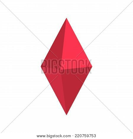 Arrow pin icon. Flat illustration of arrow pin vector icon isolated on white background