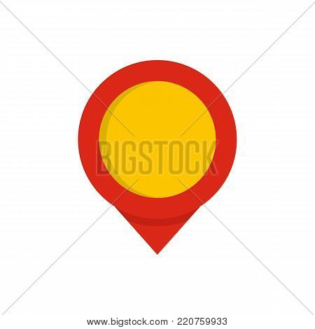 Reminder pin icon. Flat illustration of reminder pin vector icon isolated on white background