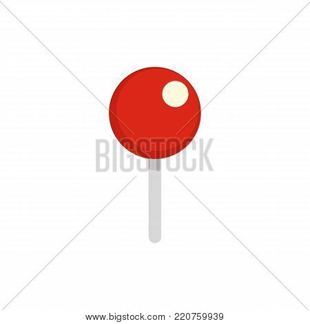 Attachment pin icon. Flat illustration of attachment pin vector icon isolated on white background