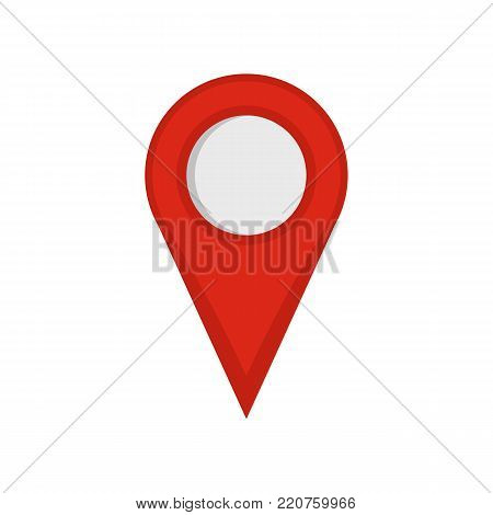 Location mark icon. Flat illustration of location mark vector icon isolated on white background