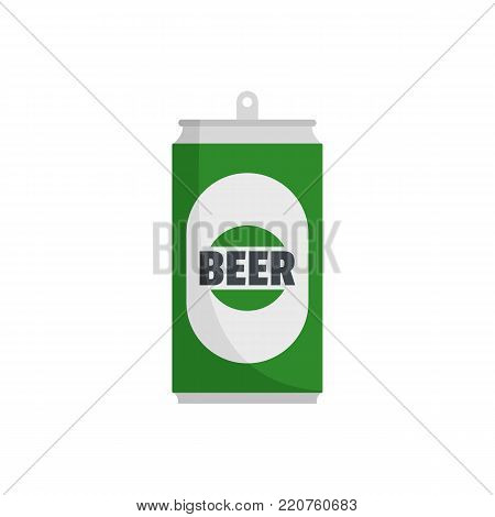 Beer can icon. Flat illustration of beer can vector icon isolated on white background