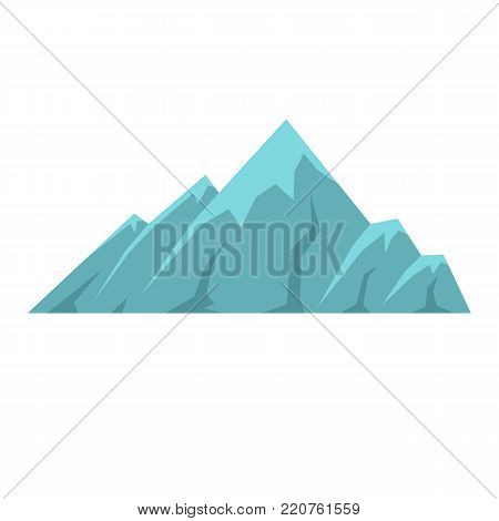 Alpine mountain icon. Flat illustration of alpine mountain vector icon isolated on white background