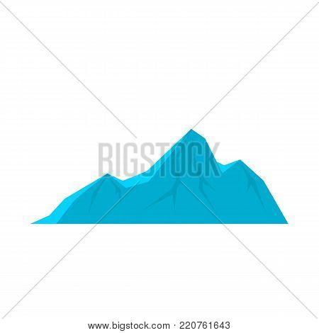 Tall mountain icon. Flat illustration of tall mountain vector icon isolated on white background