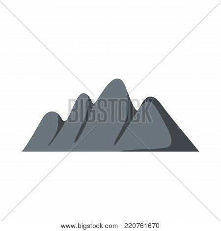 Europe mountain icon. Flat illustration of europe mountain vector icon isolated on white background
