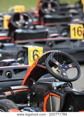 The image of go-karts