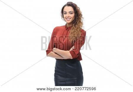 woman dressed in a business style