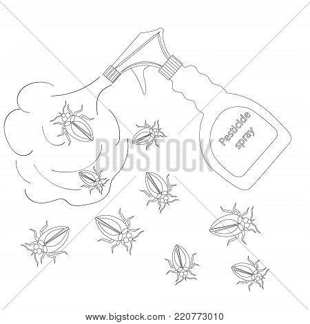 Pest control vector illustration black white silhouette