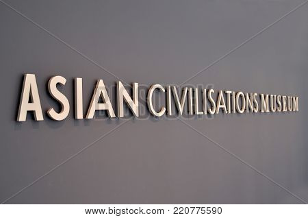 Sign Of Asian Civilisations Museum Located In Singapore