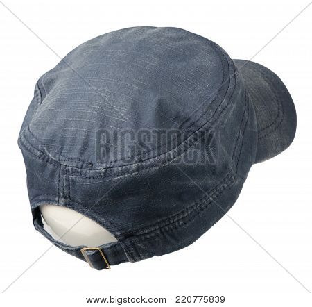 hat isolated on white background. Hat with a visor.