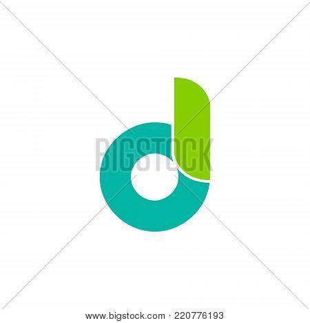 letter DI or letter d lowercase initial alphabet Logo design Template