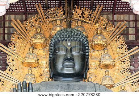 The Great Buddha Hall at the Todai-ji temple in Nara, Japan.