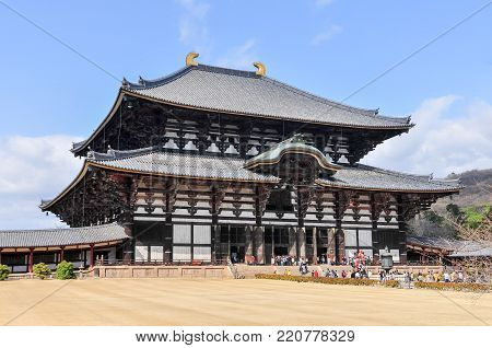 Todai-ji Temple In Nara, Japan.