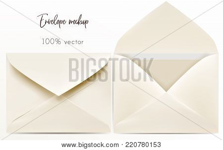 Set of vector envelope mock up for design