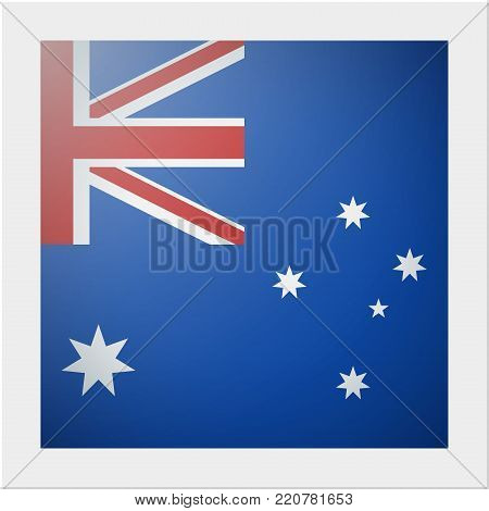 Oceania zone flag collection with photo of Australia flag , vector , illustration