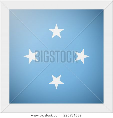Oceania zone flag collection with photo of Micronesia flag , vector , illustration