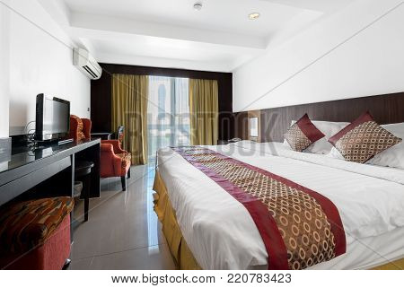 interior photo of the room in the hotel of Thailand