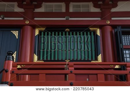 Ornamental details of the Senso-Ji temple complex, Tokyo, Japan