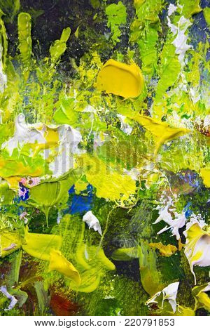 abstract painting fragment vector illustration palette knife marks. Oil on canvas texture canvas art. abstract background. Close-up view