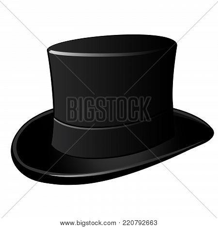 Cylinder hat.  Vector cartoon close-up illustration. model