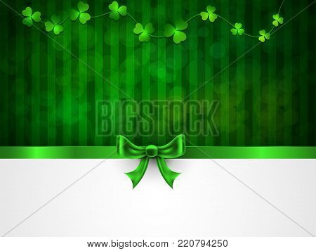 St. Patrick's Day. Greeting card with a St. Patrick's Day. Background with copy space.