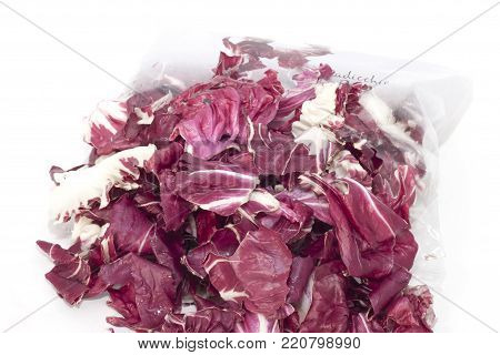 red radicchio, cut and packaged red radicchio, cut and packaged