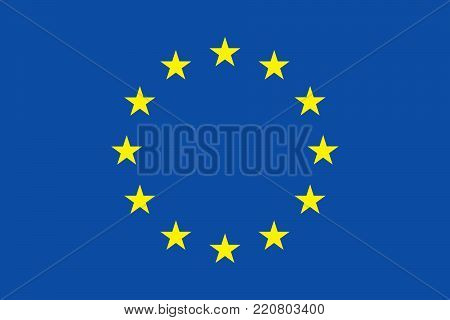 EU flag since 1955 oficial colors and proportions