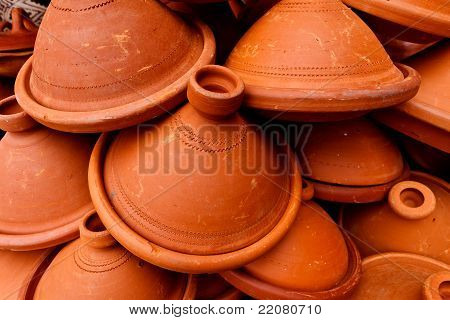 Pile Of Clay Tangine Cooking Pots
