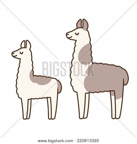 Cute Simple Llamas Vector Photo Free Trial Bigstock