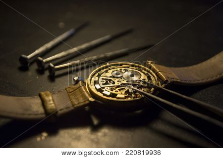Special tools for repair of watches, watch repair