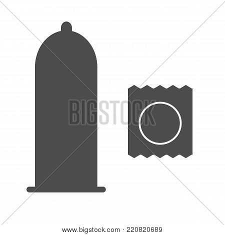 condoms icon on white background. condoms sign. flat style.
