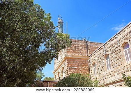 Monastery Catholic Church of the Mother of God - the queen of Palestine (Regina Palestina) in Deir Rafat, Israel