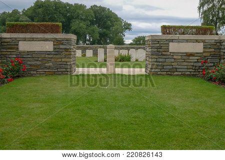 Polygon Wood Ww1 Cemetery Near Ypres