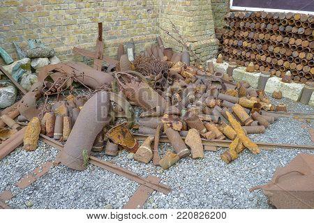 WW1 Ammunition stored near Ypres in Belgium
