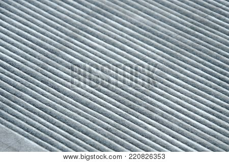 close up of car air filter texture and background