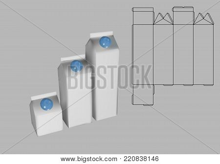 Milk Carton Box Vector & Photo (Free Trial) | Bigstock
