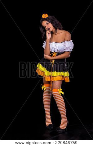 Girl Disguised As A Doll