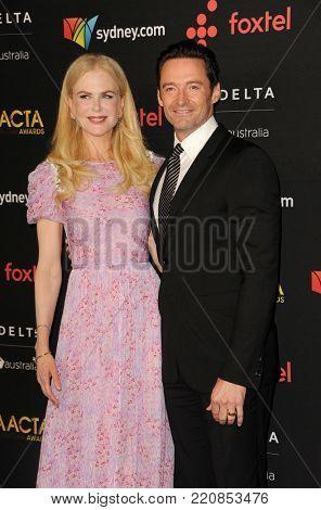 Nicole Kidman and Hugh Jackman at 7th AACTA International Awards held at the Avalon in Hollywood, USA on January 5, 2018.