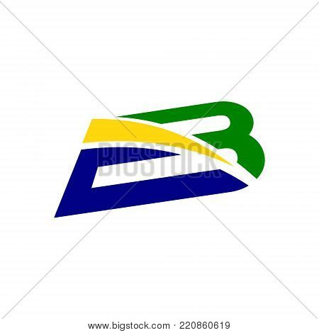 Initial alphabet Logo design Template Business corporate letter B swoosh logo design template. Simple and clean flat design of letter B logo vector template for business